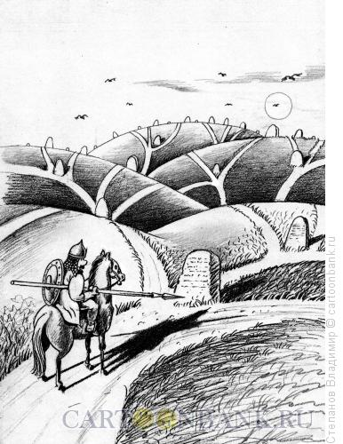 Карикатура: На распутье, Степанов Владимир