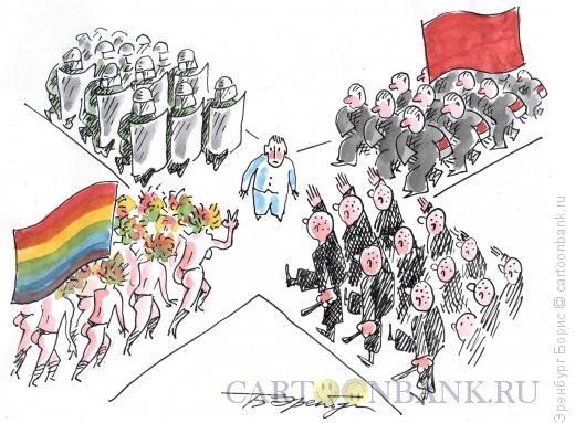Карикатура: Перекресток, Эренбург Борис