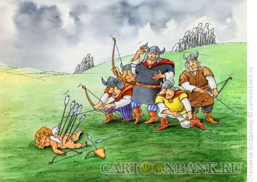 Карикатура: Ярл и купидон, Степанов Владимир