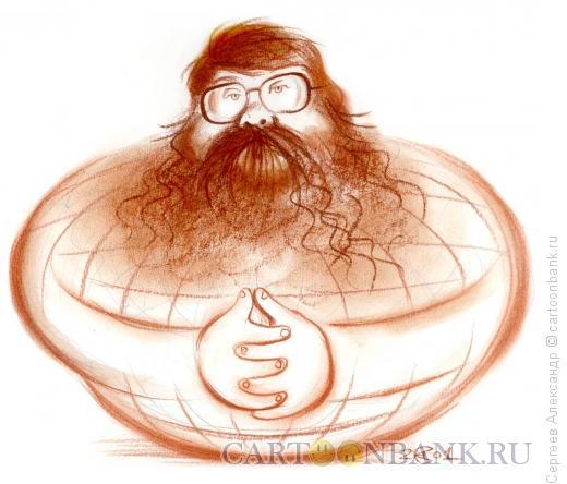 Карикатура: Михаил Соколов, журналист, Сергеев Александр