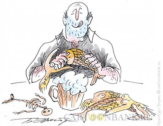 Карикатура: Русалки к пиву, Эренбург Борис