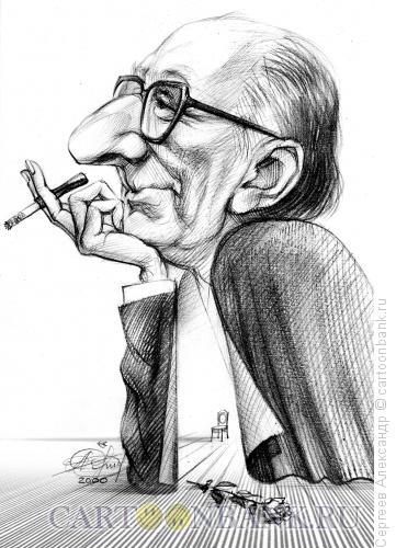 Карикатура: Товстоногов Георгий, режиссёр, Сергеев Александр
