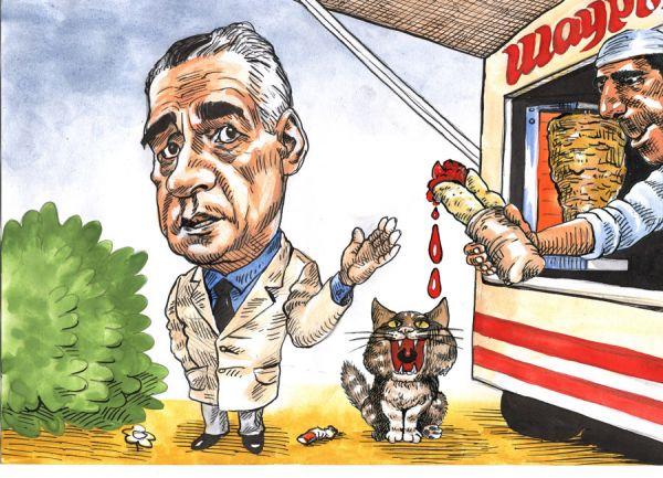 Карикатура: Онищенко и шаурма