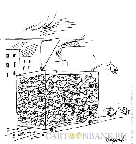 Карикатура: Переполненный трамвай, Богорад Виктор