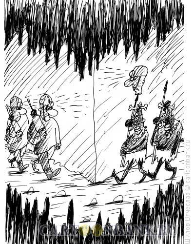 Карикатура: Фонарик, Шилов Вячеслав