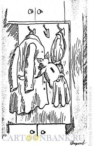 Карикатура: Клептоман, Богорад Виктор