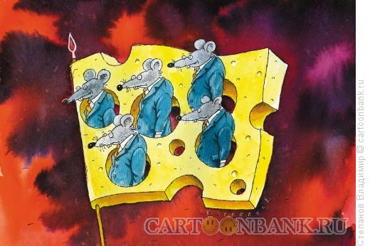 Карикатура: Кормушка, Степанов Владимир