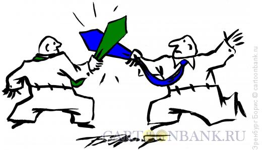 Карикатура: Дуэль, Эренбург Борис