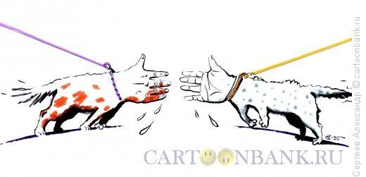 Карикатура: Рукопожатие врагов, Сергеев Александр