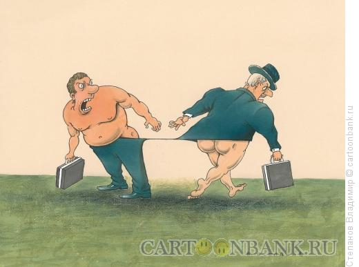 Карикатура: Расхождение, Степанов Владимир