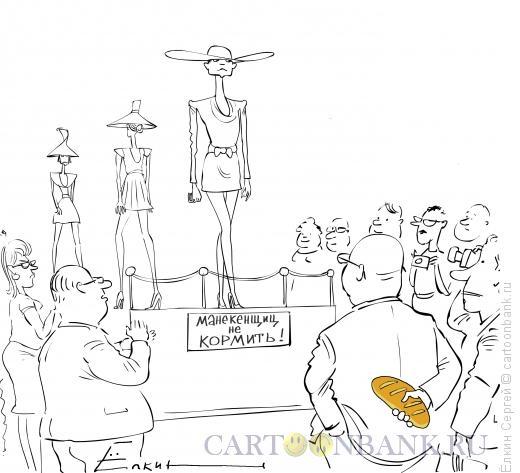 Карикатура: Жизнь моделей., Ёлкин Сергей