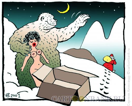Карикатура: Подарок для Йети, Сергеев Александр