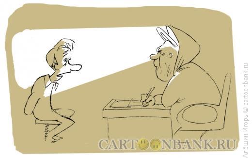 Карикатура: Апостол Пётр в рабочем кабинете, Алёшин Игорь