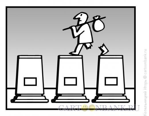 Карикатура: памятник нищему, Копельницкий Игорь