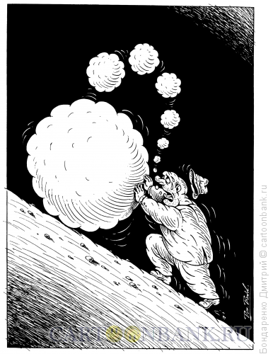 Карикатура: Труд болтуна, Бондаренко Дмитрий