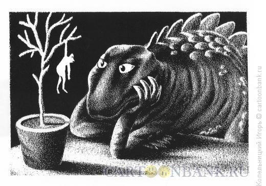 Карикатура: динозавр, Копельницкий Игорь