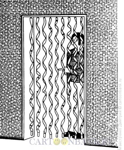 Карикатура Липкая преграда, Майстренко Дмитрий