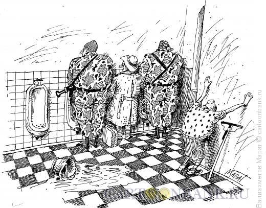 Карикатура: Охрана, Валиахметов Марат