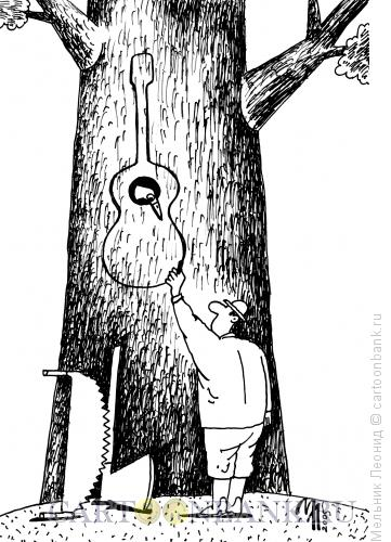 Карикатура: конец дятлу, Мельник Леонид