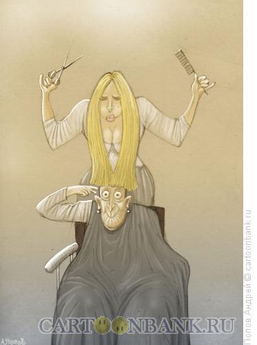 Карикатура: Стрижка, Попов Андрей