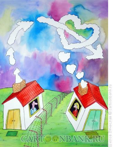 Карикатура: Дым - сердце и стрела, Шилов Вячеслав