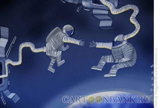 Карикатура: Стыковка, Попов Андрей