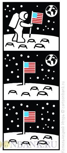 Карикатура: американский флаг, Копельницкий Игорь