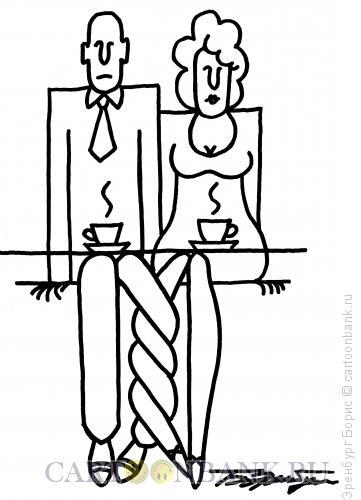 Карикатура: Парочка, Эренбург Борис