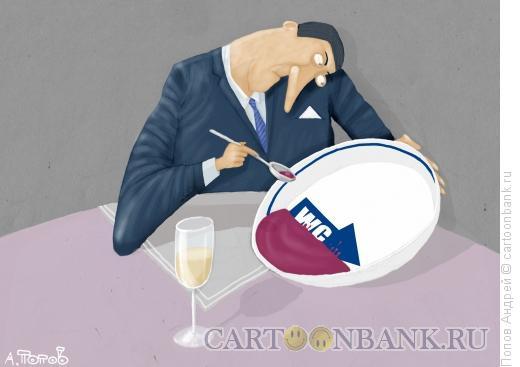 Карикатура: В ресторане, Попов Андрей