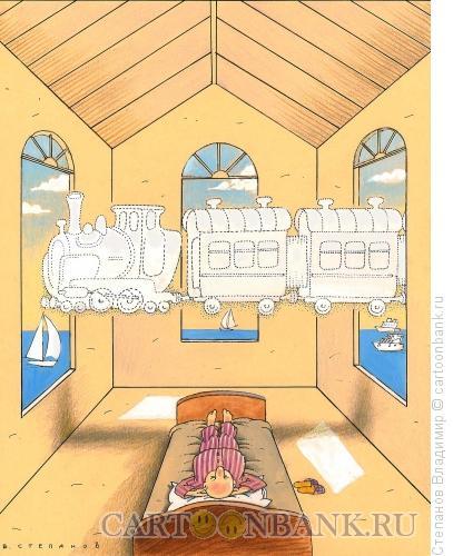 Карикатура: Облака, Степанов Владимир