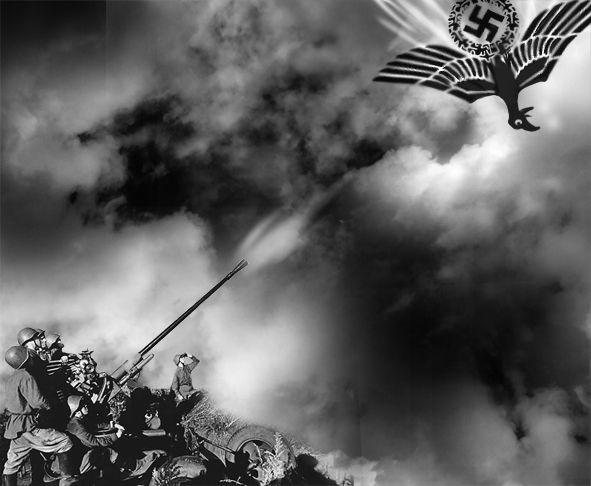 Карикатура: И пал фашизм - советским залпом пораженный!, Эфен Гайдэ