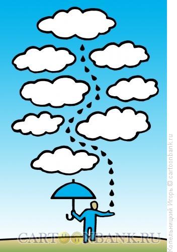 Карикатура: капля дождя, Копельницкий Игорь