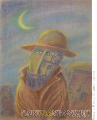 Карикатура: Портрет эмигранта, Богорад Виктор