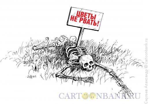 Карикатура: Цветы не рвать, Сергеев Александр
