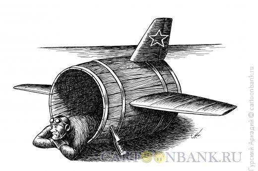 Карикатура: диоген-лётчик, Гурский Аркадий