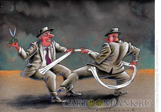 Карикатура: Общий карман, Степанов Владимир