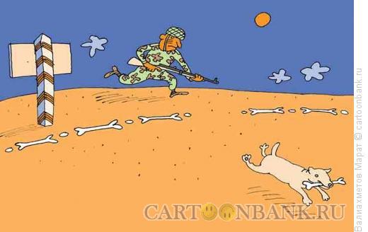 Карикатура: Нарушитель границы, Валиахметов Марат