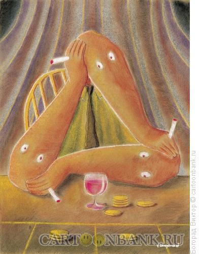 Карикатура: Пьяница, Богорад Виктор