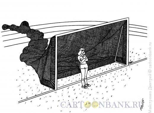 Карикатура: Женский футбол, Майстренко Дмитрий