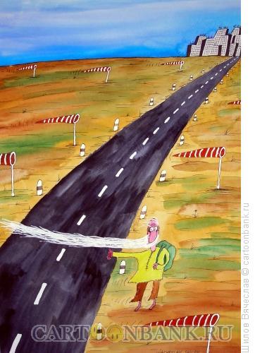 """Карикатура \""""Голосует\"""" бородой, Шилов Вячеслав"""