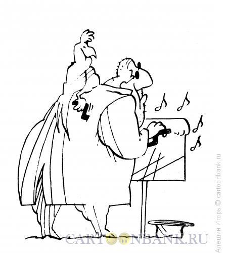 Карикатура: шарманщик, Алёшин Игорь