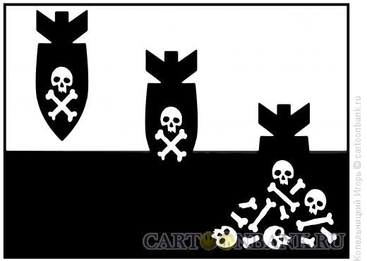 Карикатура: черепа под землёй, Копельницкий Игорь