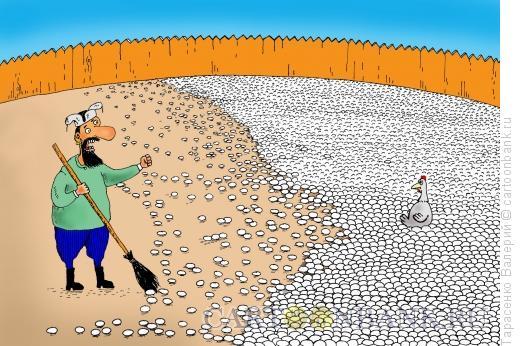 Карикатура: Яйценоскость, Тарасенко Валерий