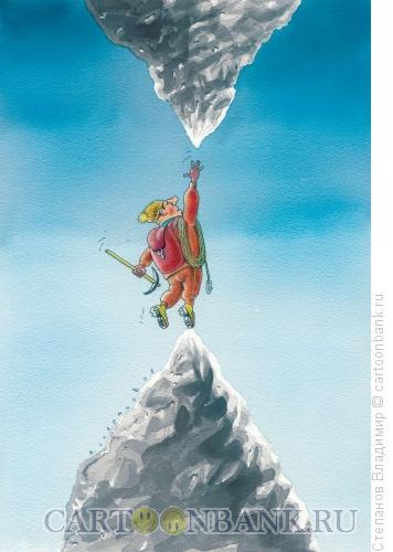 Карикатура: Покоритель вершин, Степанов Владимир