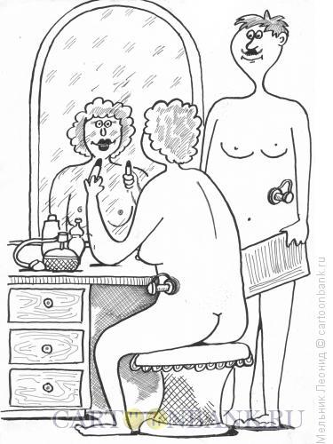 Карикатура: Свидание, Мельник Леонид