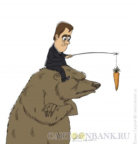 Карикатура: Не едет, Ёлкин Сергей