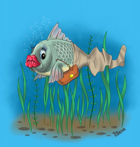 Смешные рисунки рыб