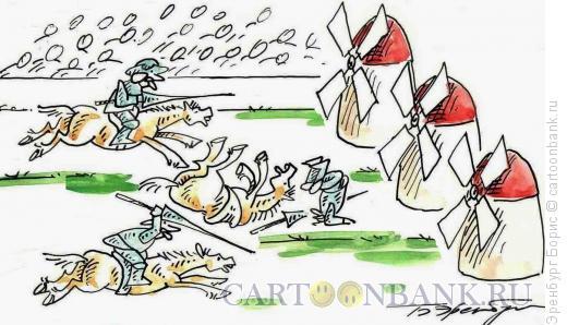 Карикатура: Соревнование, Эренбург Борис