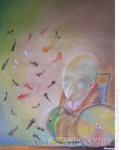 Карикатура: Безногий кларнетист, Богорад Виктор