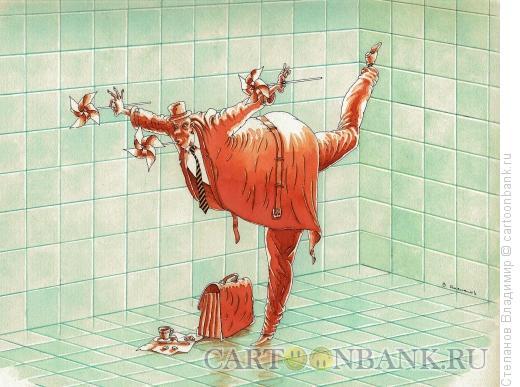 Карикатура: В ожидании чуда, Степанов Владимир